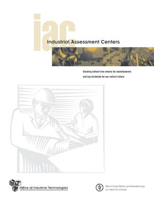 Primary view of object titled 'Office of Industrial Technologies (OIT): Industrial Assessment Centers'.