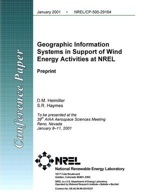 Primary view of object titled 'Geographic Information Systems in Support of Wind Energy Activities at NREL: Preprint'.