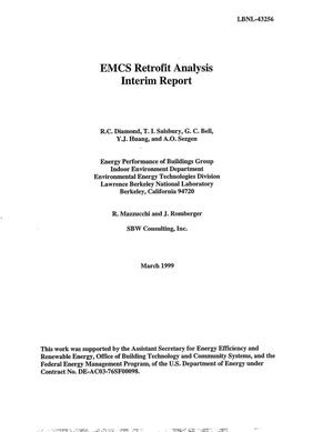 Primary view of object titled 'EMCS Retrofit Analysis - Interim Report'.