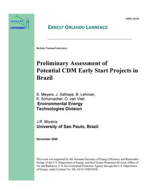 Primary view of object titled 'Preliminary assessment of potential CDM early start projects in Brazil'.