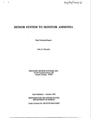 Primary view of object titled 'Final Report: Sensor System to Monitor Ammonia'.