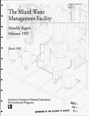 Primary view of object titled 'The Mixed Waste Management Facility, monthly report, February 1995'.