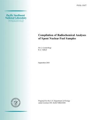 Primary view of object titled 'Compilation of Radiochemical Analyses of Spent Nuclear Fuel Samples'.