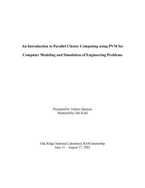 Primary view of object titled 'An Introduction to Parallel Cluster Computing Using PVM for Computer Modeling and Simulation of Engineering Problems'.