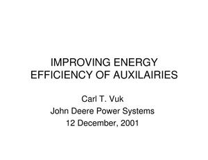 Primary view of object titled 'Improving Energy Efficiency of Auxiliaries'.