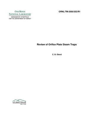 Primary view of object titled 'Guide to Orifice Plate Steam Traps'.