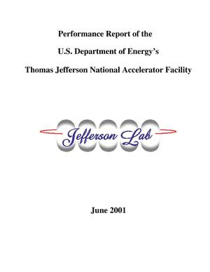Primary view of object titled 'Performance Report of the U.S. Department of Energy's Thomas Jefferson National Accelerator Facility'.