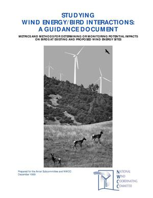 Primary view of object titled 'Studying Wind Energy/Bird Interactions: A Guidance Document'.