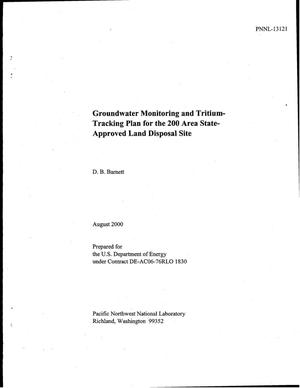 Primary view of object titled 'Groundwater Monitoring and Tritium-Tracking Plan for the 200 Area State-Approved Land Disposal Site'.