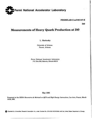 Primary view of object titled 'Measurements of heavy quark production at D0'.