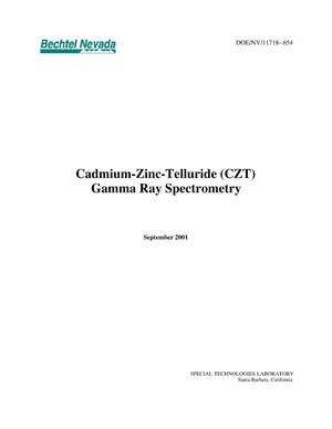 Primary view of object titled 'Cadium-Zinc-Telluride (CZT) Gamma Ray Spectrometry'.