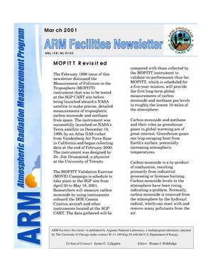 Primary view of object titled 'Atmospheric Radiation Measurement Program Facilities newsletter, March 2001.'.