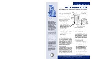 Primary view of object titled 'Wall Insulation; BTS Technology Fact Sheet'.