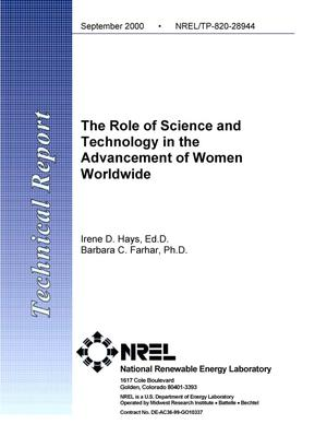 Primary view of object titled 'The Role of Science and Technology in the Advancement of Women Worldwide'.
