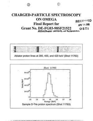 Primary view of object titled 'Final Report: Measurements of Core Conditions, Implosion Symmetry, and Anomaloes Acceleration Mechanisms on Omega through Charged Particle Spectroscopy, November 1, 1997 - December 31, 1998'.