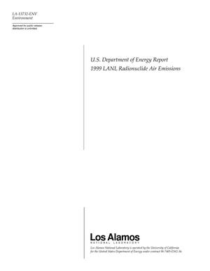 Primary view of object titled 'U.S. Department of Energy Report 1999 LANL Radionuclide Air Emissions'.
