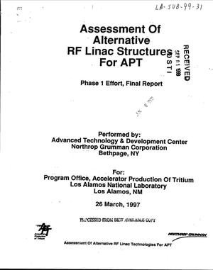 Primary view of object titled 'Assessment of Alternative RF Linac Structures for APT'.