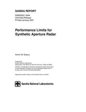 Primary view of object titled 'Performance Limits for Synthetic Aperture Radar'.