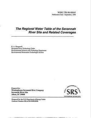 Primary view of object titled 'The Regional Water Table of the Savannah River Site and Related Coverages'.