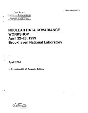 Primary view of object titled 'COVARIANCE WORKSHOP April 22-23, 1999 Brookhaven National Laboratory'.