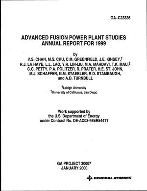 Primary view of object titled 'Advanced Fusion Power Plant Studies. Annual Report for 1999'.