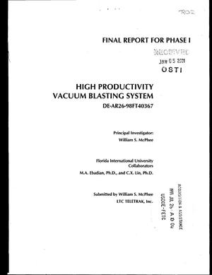 Primary view of object titled 'HIGH PRODUCTIVITY VACUUM BLASTING SYSTEM'.