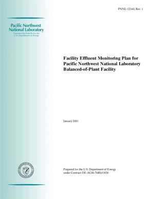 Primary view of object titled 'Facility Effluent Monitoring Plan for Pacific Northwest National Laboratory Balance-of-Plant Facilities'.