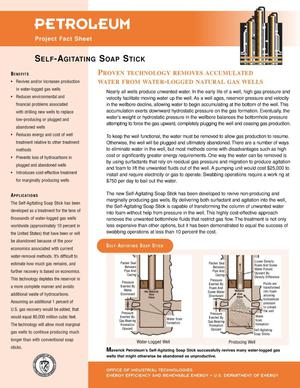 Primary view of object titled 'Self-Agitating Soap Stick: Inventions and Innovation Petroleum Project Fact Sheet'.