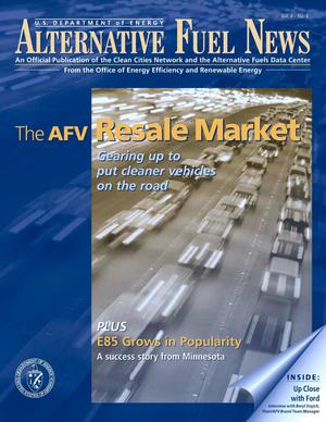 Primary view of object titled 'Alternative Fuel News: Official Publication of the U.S. Department of Energy's Clean Cities Network and the Alternative Fuels Data Center; Vol. 4, No. 4'.
