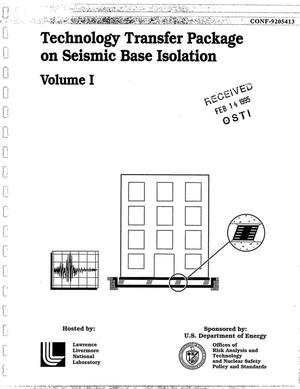 Primary view of object titled 'Technology transfer package on seismic base isolation - Volume I'.