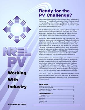 Primary view of object titled 'NREL PV Working With Industry, v. 27, Third Quarter 2000'.