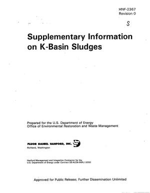 Primary view of object titled 'Supplementary information on K-Basin sludges'.