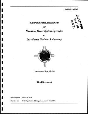 Primary view of object titled 'Environmental Assessment for Electrical Power System Upgrades at Los Alamos National Laboratory, Los Alamos, New Mexico - Final Document'.