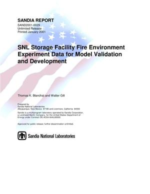 Primary view of object titled 'SNL Storage Facility Fire Environment Experiment Data for Model Validation and Development'.