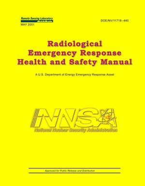 Primary view of object titled 'Radiological Emergency Response Health and Safety Manual'.