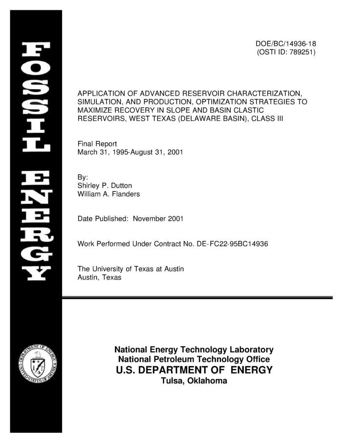 Application of Advanced Reservoir Characterization