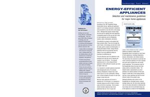 Primary view of object titled 'Energy-Efficient Appliances: Selection and maintenance guidelines for major home appliances (Office of Building Technology, State and Community Programs (BTS) Technology Fact Sheet)'.