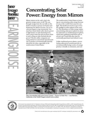 Primary view of object titled 'Concentrating Solar Power: Energy from Mirrors'.