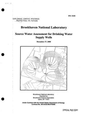 Primary view of object titled 'BROOKHAVEN NATIONAL LABORATORY SOURCE WATER ASSESSMENT FOR DRINKING WATER SUPPLY WELLS'.