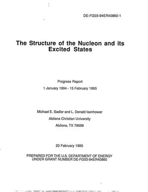 Primary view of object titled 'The Structure of the Nucleon and it's Excited States'.