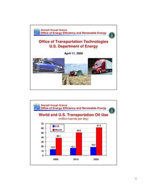Primary view of object titled 'Overview of the U.S. Department of Energy Office of Transportation Technologies'.