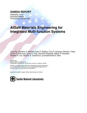 Primary view of object titled 'AlGaN Materials Engineering for Integrated Multi-Function Systems'.
