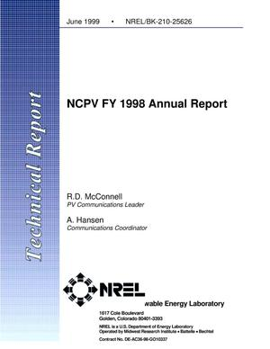 Primary view of object titled 'NCPV FY 1998 Annual Report'.