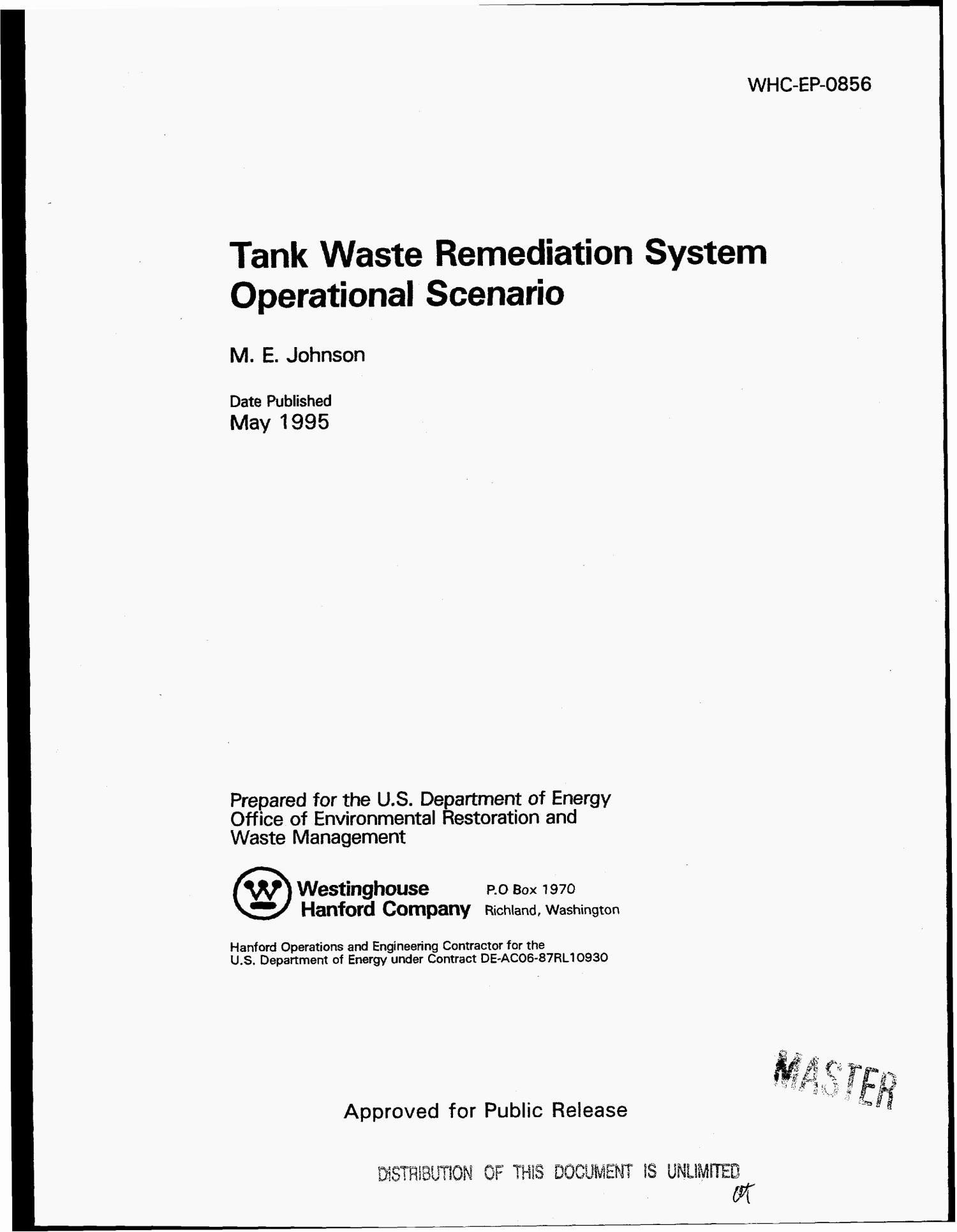 Tank waste remediation system operational scenario                                                                                                      [Sequence #]: 1 of 47