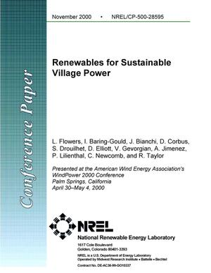 Primary view of object titled 'Renewables for Sustainable Village Power'.