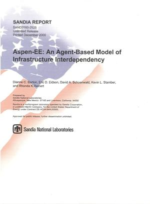 Primary view of object titled 'Aspen-EE: An Agent-Based Model of Infrastructure Interdependency'.