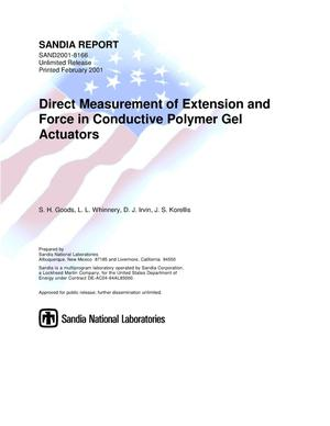 Primary view of object titled 'Direct Measurement of Extension and Force in Conductive Polymer Gel Actuators'.