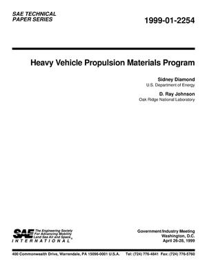 Primary view of object titled 'Heavy Vehicle Propulsion Materials Program'.