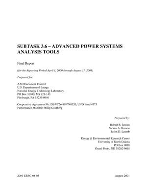 Primary view of object titled 'ADVANCED POWER SYSTEMS ANALYSIS TOOLS'.