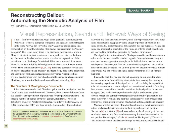 semiotics and film analysis Film media are intrinsically and primarily iconic in nature — the experience is mainly sensory, ie, visual and auditory like all signs everywhere, of course, film media are also inherently indexical, but that's a longer discussion that won't be.
